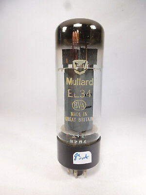 one EL34 6CA7 Mullard BVA made in Great britain, code XF2 tested with U61C