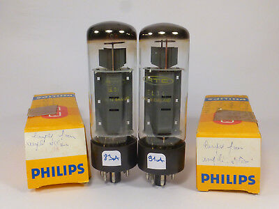 one pair EL34 6CA7 Philips RTC XF4 made in Blackburn NIB NOS, tested with U61C