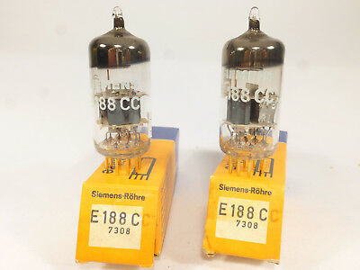 one pair E188CC Siemens gold pin, NOS & boxed matched with U61