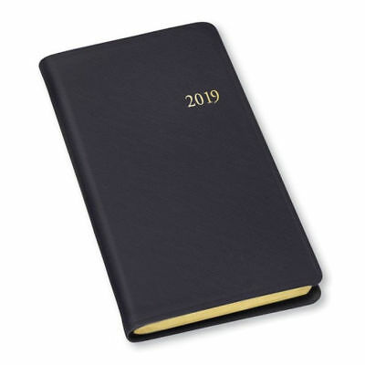 2019 / 2020 Gallery Leather Monthly Weekly Pocket Planner Agenda Calendar Black