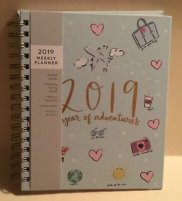 2019 Eccolo 12 Months Weekly Monthly Agenda Planner Calendar Year of Adventures