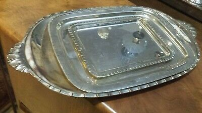 1545g STERLING SILVER SET OF 3 TRAYS GRECA CORDONE STYLE
