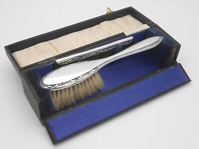 Cased Childs Brush & Comb Set - Sterling Silver - Chester 1921 / 22 - Vintage