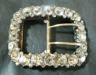 Stunning Early Victorian  Silver & Paste Buckle Vgc 5.3 Cms Wide