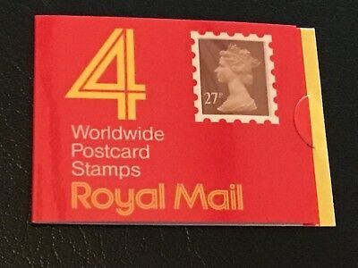 GB BOOKLET OF 4   27p  STAMPS  UNMOUNTED MINT. VERY NICE