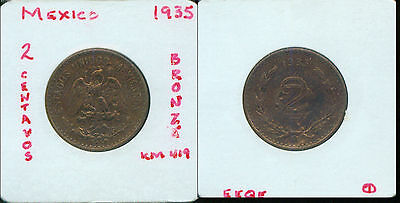 Coins & Paper Money One Year Issue 50 Centavos 1935-m Mexico 54h Coins: World
