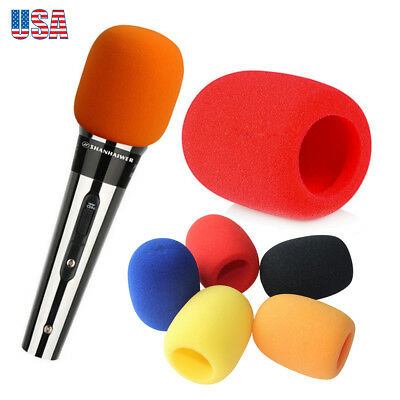 5pcs Handheld Dynamic Microphone Sponge Foam Windscreen Sponge Cover