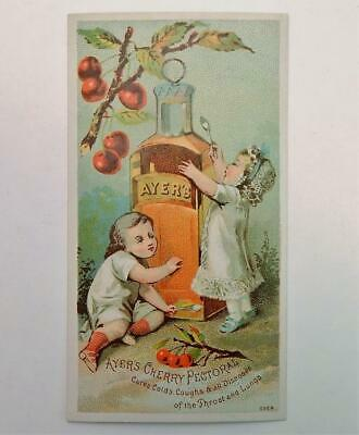 Antique Victorian Trade Card Dr. Ayer's Cherry Pectoral Cure Remedy Medicine