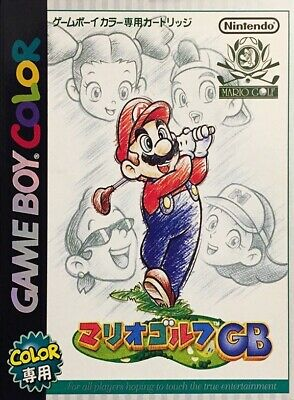 Nintendo GameBoy Color game - Mario Golf JAPAN boxed  MINT CONDITION