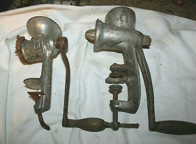 Home & Hearth Vintage Counter Meat Grinder Lot Of Universal And Ovb Large Assortment