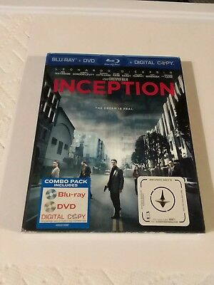 Inception (Blu-ray/DVD, 2010, 3-Disc Set) with SLIPCOVER