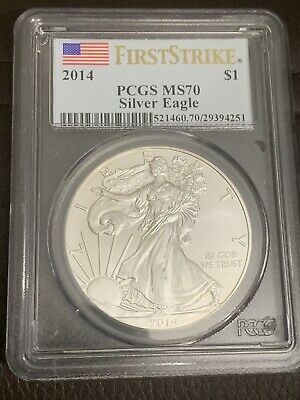 2014 American Silver Eagle $1 PCGS MS70 First Strike