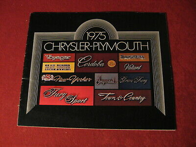 1975 Plymouth Chrysler Dealer Salesman Dealership Brochure Booklet Catalog Old