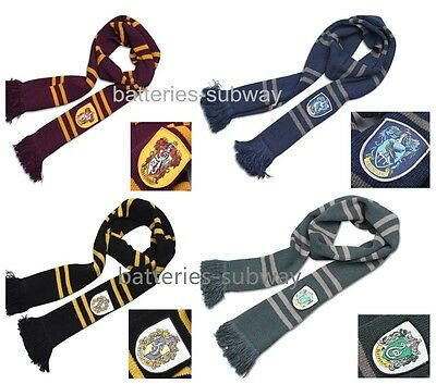 200cm Harry Potter Gryffindor Hufflepuff Slytherin Ravenclaw Knit Scarf Costume