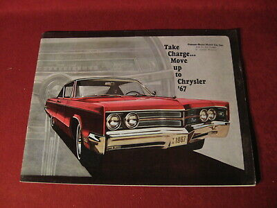 1967 Chrysler Large Prestige Dealer Sales Brochure Booklet Catalog Old