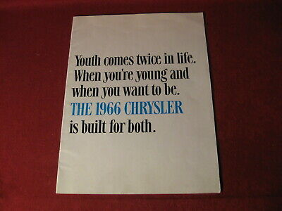 1966 Chrysler Large Prestige Dealer Salesman Sales Brochure Booklet Catalog Old