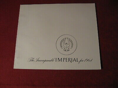1964 Chrysler Imperial Original Sales Dealer Brochure Booklet Catalog Old Book