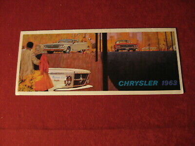 1963 Chrysler small Sales Dealership Brochure Old Booklet Original Mopar Catalog