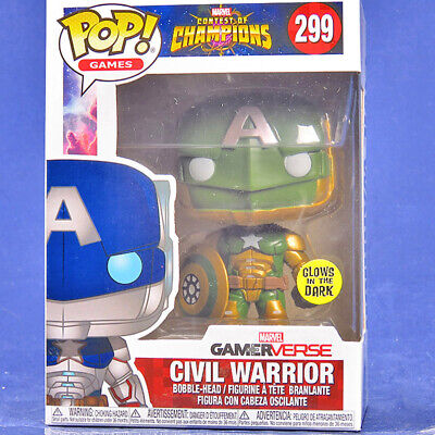 Pop Vinyl Marvel Contest of Champions #299 Civil Warrior Glow In The Dark