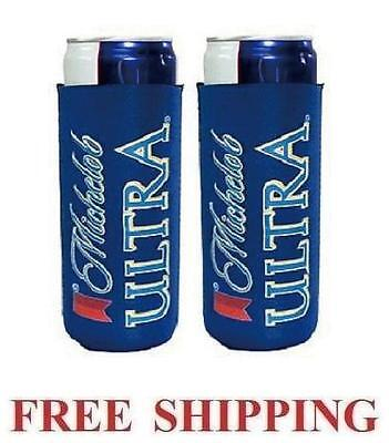 Michelob Ultra Slim Can 2 Cooler Coozie Coolie Koozie Huggie New Bud Budweiser
