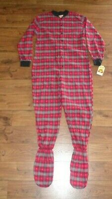 4514b0bea BIG FEET PJS - Gray   White Flannel - Adult Footed One Piece Pajamas ...