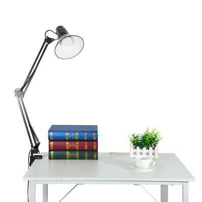 Folding Table Lamp with Clamp Rocker Armrest Dimmable Clip LED Desk Lamp Bedside