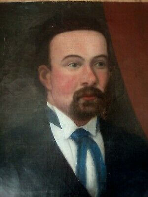 Portrait of a gentleman, date 1891, expert help required, ANTIQUE OIL PAINTING.