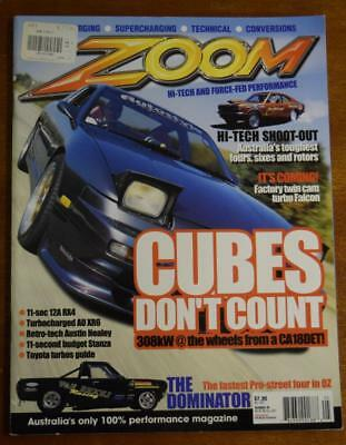 2x ZOOM Magazines Numbers 46 & 63 Cubes/Turbo/Pro-Street/Fours/Sixes/Rotors/XR6