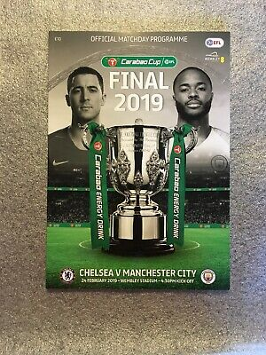 Chelsea V Manchester City Carabao Cup Final Match day Programme 24/2/2019