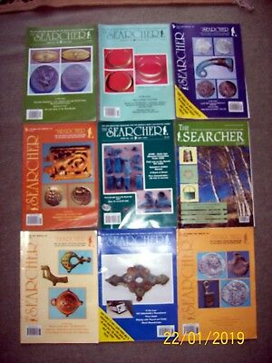 The Searcher  9 off Metal Detecting Magazines 1994 - 2001 Hammered Coins Roman
