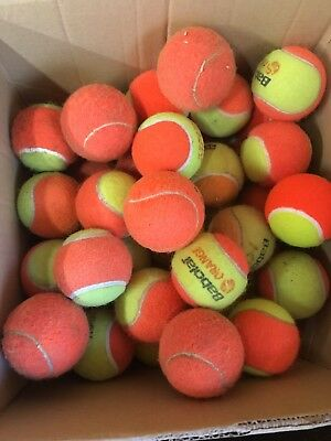 15 Used Orange Tennis Balls