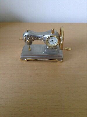 NOVELTY SEWING MACHINE CLOCK -BY BREEZE  - JAPAN MOVEMENT - Good F. W. Order