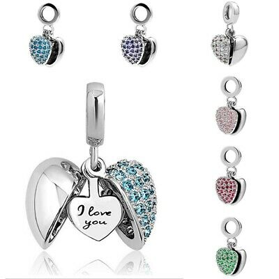 Authentic Pandora Charms Bracelet I Love You Womens GIFT Valentine's New 6 color