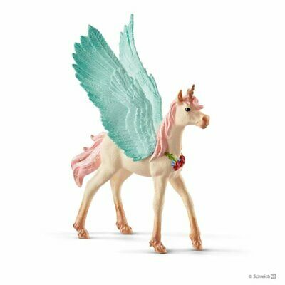 70575 Decorated unicorn pegasus horse foal Bayala The World of Elves Schleich<><