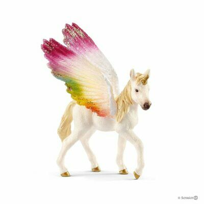 70577 Winged rainbow unicorn foal horse Bayala The World of Elves Schleich<><