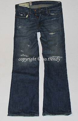 NWT! ~RARE~ABERCROMBIE Mens Vintage Destroyed Low Rise KILBURN BOOT Jeans 31x32