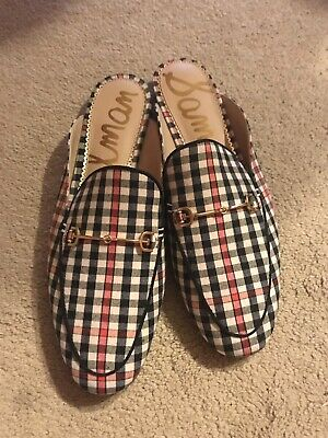 08993f9d6c64 Sam Edelman Woman s Linnie Bit Mule Shepards Plaid Slip On Backless Loafer  8.5