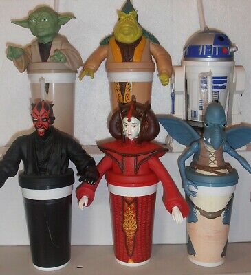 Star Wars Complete set of 12 SW:TPM E1 Cups & Toppers Pizza Hutt, KFC, Taco Bell