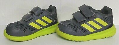 NEW/NIB Adidas Running AltaRun Cf I Gray/Lime Shoes Sneakers - Size 6