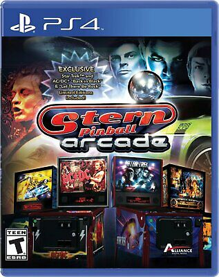 Stern Pinball Arcade [Sony PlayStation 4 PS4 Star Trek AC/DC Edition Tables] NEW