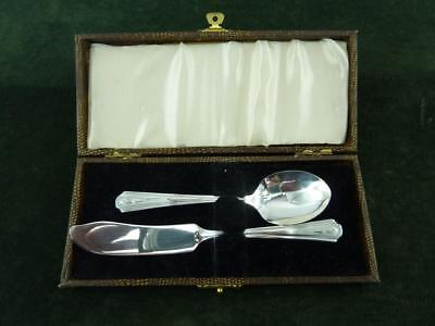 Vintage Dorchester Plate Butter knife and Teaspoon Silver Plated EPNS cased