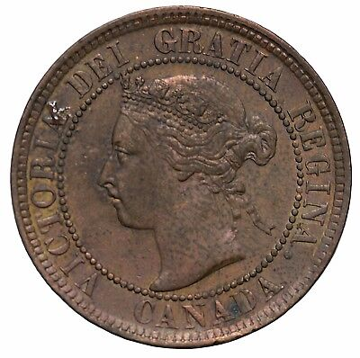 1901 Canada 1c Large One Cent KM#7 Queen Victoria British Coin