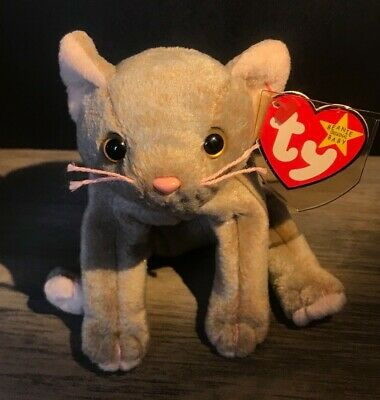 f69c8a42b08 Ty Beanie Baby Scat the Cat Ultra Super Rare Retired Misspellings Errors