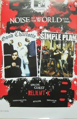 GOOD CHARLOTTE Simple Plan 2005 MTV Tour promo poster Flawless New old stock
