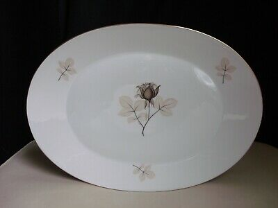 "Rosenthal Selb Germany Porcelain Shadow Rose 15 1/2"" Oval Serving Platter Tray"