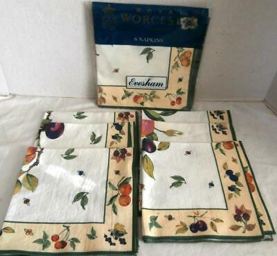 Royal Worcester Lot Of 12 Napkins 6 New 6 Used