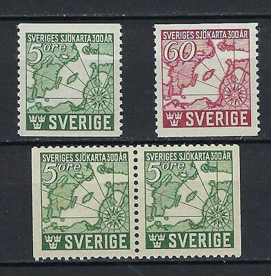 Sweden Scott 348-350 MNH With Pair Scott $ 12.60