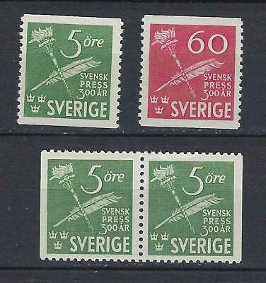 Sweden Scott 360-362 MNH With Pair Scott $ 7.95