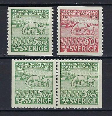 Sweden Scott 374-376 MNH With Pair  Scott $ 9.10