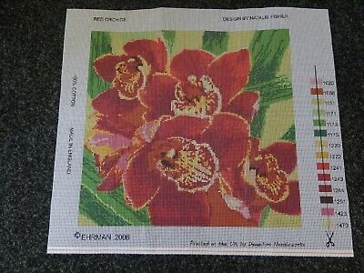 Ehrman Tapestry Canvas 'Red Orchid' by Natalie Fisher